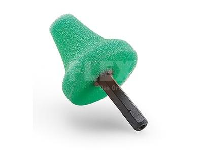 Polírozó szivacs kúp zöld
